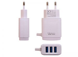 HT-31 3 USB 3.4A Ultra Fast Travel Charger with Cable