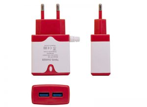 HT-28 Dual USB 2.4A Charging Adapter with Cable