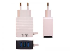 HT-33 Travel Charger with 3 USB Port